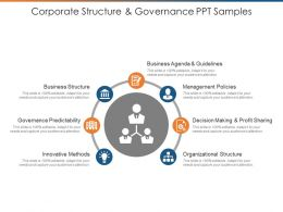 Corporate Structure And Governance Ppt Samples