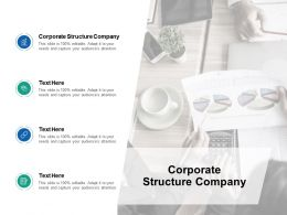 Corporate Structure Company Ppt Powerpoint Presentation Slides Diagrams Cpb