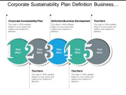 Corporate Sustainability Plan Definition Business Development Marketing Networks Cpb