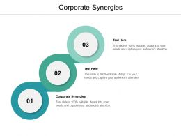 Corporate Synergies Ppt Powerpoint Presentation Outline Inspiration Cpb