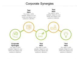 Corporate Synergies Ppt Powerpoint Presentation Summary Deck Cpb