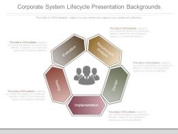 Corporate System Lifecycle Presentation Backgrounds