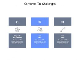 Corporate Tax Challenges Ppt Powerpoint Presentation Model Templates