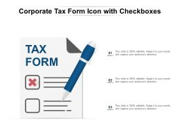 Corporate Tax Form Icon With Checkboxes