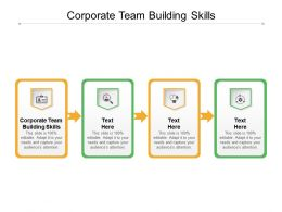 Corporate Team Building Skills Ppt Powerpoint Presentation Inspiration Template Cpb