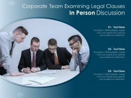 Corporate Team Examining Legal Clauses In Person Discussion