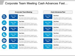 Corporate Team Meeting Cash Advances Fast Culture Awareness Cpb