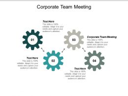 Corporate Team Meeting Ppt Powerpoint Presentation Outline Visuals Cpb