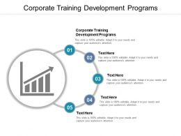 Corporate Training Development Programs Ppt Powerpoint Presentation Model Topics Cpb