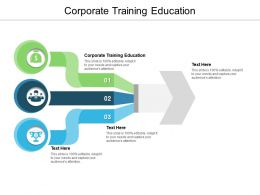 Corporate Training Education Ppt Powerpoint Presentation Slides Design Inspiration Cpb