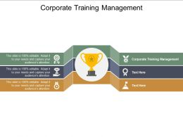 Corporate Training Management Ppt Powerpoint Presentation Professional Graphics Pictures Cpb