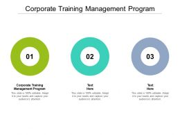 Corporate Training Management Program Ppt Powerpoint Presentation Pictures Inspiration Cpb