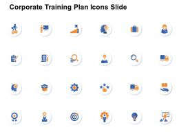 Corporate Training Plan Icons Slide Gear L871 Ppt Powerpoint Model
