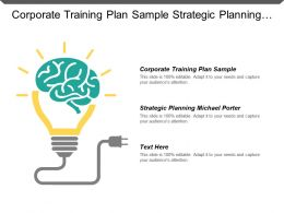 Corporate Training Plan Sample Strategic Planning Michael Porter Cpb