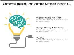 Corporate Training Plan Sample Strategic Planning Michael Porter Cpb