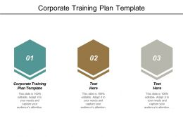 Corporate Training Plan Template Ppt Powerpoint Presentation Rules Cpb