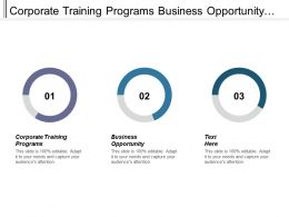 Corporate Training Programs Business Opportunity Investment Analyst Investment Decision Cpb