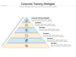 Corporate Training Strategies Ppt Powerpoint Presentation Guide Cpb