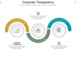 Corporate Transparency Ppt Powerpoint Presentation File Example Cpb