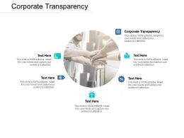 Corporate Transparency Ppt Powerpoint Presentation Outline Icon Cpb