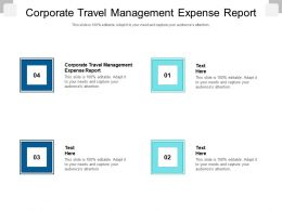 Corporate Travel Management Expense Report Ppt Powerpoint Presentation Model Graphic Tips Cpb