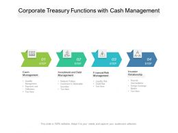 Corporate Treasury Functions With Cash Management