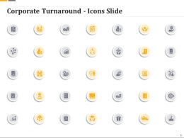 Corporate Turnaround Icons Slide Ppt Background Images