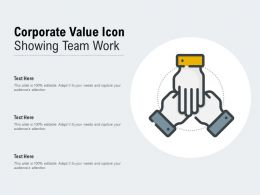 Corporate Value Icon Showing Team Work