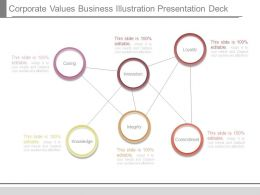 Corporate Values Business Illustration Presentation Deck
