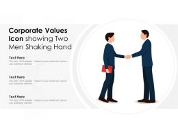 Corporate Values Icon Showing Two Men Shaking Hand