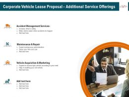 Corporate Vehicle Lease Proposal Additional Service Offerings Ppt Clipart