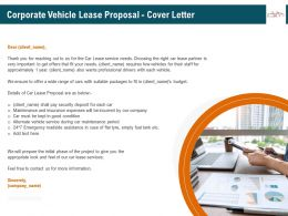 Corporate Vehicle Lease Proposal Cover Letter Ppt File Elements