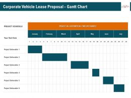 Corporate Vehicle Lease Proposal Gantt Chart Ppt Infographics