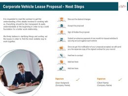 Corporate Vehicle Lease Proposal Next Steps Ppt Icon