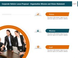 Corporate Vehicle Lease Proposal Organization Mission And Vision Statement Ppt Gallery