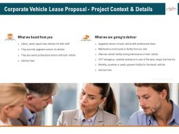 Corporate Vehicle Lease Proposal Project Context And Details Ppt File Formats