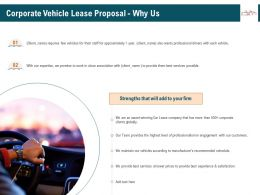 Corporate Vehicle Lease Proposal Why Us Ppt Gallery