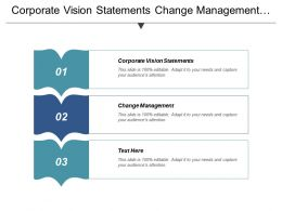 Corporate Vision Statements Change Management Sales Forecasting Risks Cpb
