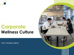Corporate Wellness Culture Powerpoint Presentation Slides