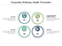 Corporate Wellness Health Promotion Ppt Powerpoint Presentation Maker Cpb