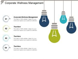 Corporate Wellness Management Ppt Powerpoint Presentation Infographic Template Styles Cpb