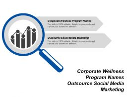 Corporate Wellness Program Names Outsource Social Media Marketing Cpb