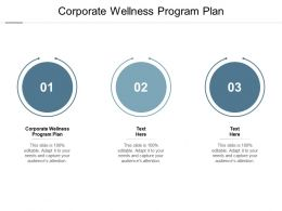 Corporate Wellness Program Plan Ppt Powerpoint Presentation Graphic Tips Cpb