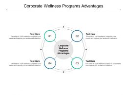 Corporate Wellness Programs Advantages Ppt Powerpoint Presentation Layouts Deck Cpb