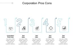 Corporation Pros Cons Ppt Powerpoint Presentation Slides Vector Cpb