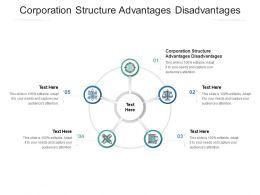 Corporation Structure Advantages Disadvantages Ppt Powerpoint Presentation Professional Pictures Cpb