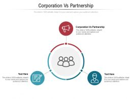 Corporation Vs Partnership Ppt Powerpoint Presentation Summary Template Cpb