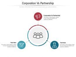 Corporation Vs Partnership Ppt Powerpoint Presentation Summary Template Cpb