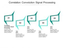 Correlation Convolution Signal Processing Ppt Powerpoint Presentation Inspiration Designs Cpb