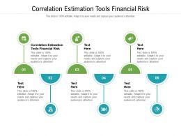 Correlation Estimation Tools Financial Risk Ppt Powerpoint Presentation Cpb